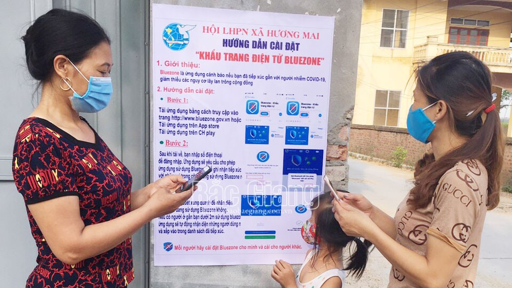 Bac Giang ranks 13 nationwide in number of Bluezone users