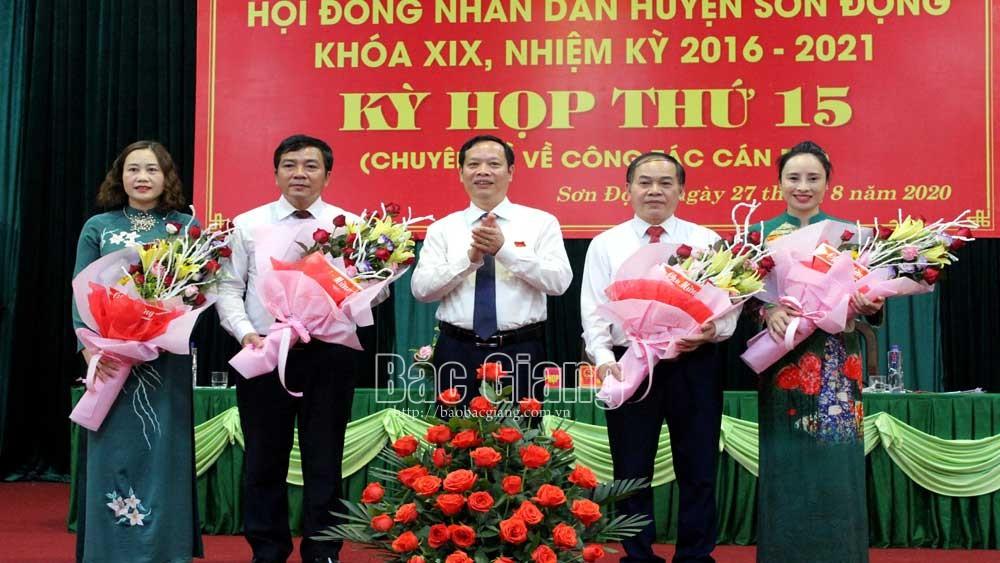 Sơn Động: Bầu các chức danh chủ chốt HĐND, UBND huyện