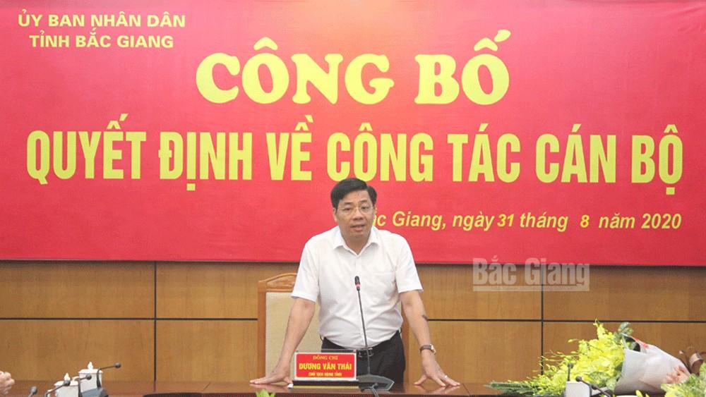 Bắc Giang: Công bố các quyết định điều động, bổ nhiệm cán bộ