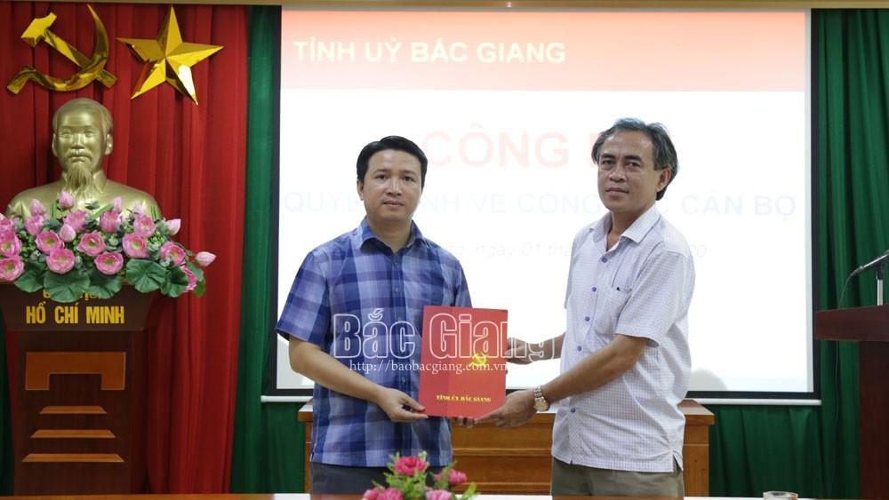 Bắc Giang, Lê Minh Hoàng, Lê Minh Hải, nhân sự mới, Lê Thị Thu Hồng.