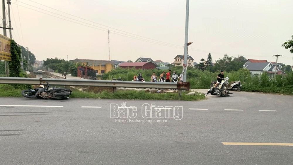 Bắc Giang: Hai xe máy va chạm khiến một người tử vong
