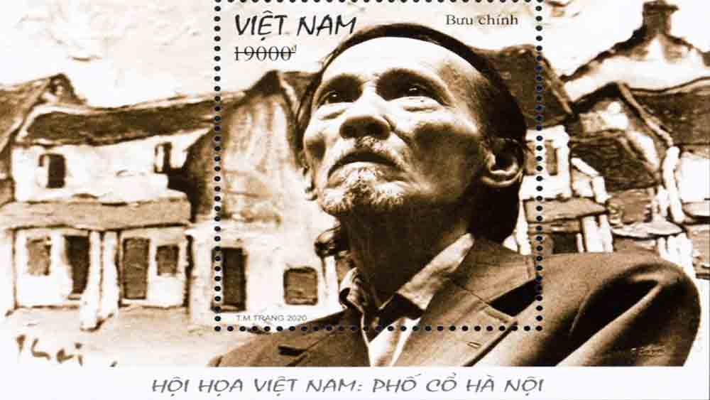 Stamp collection on Hanoi Old Quarter issued