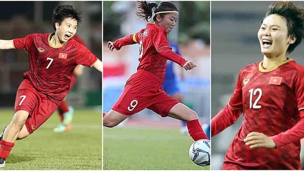 Three Vietnamese women footballers, play in Portugal, Lank FC,  Vietnamese striker Huynh Nhu, midfielder Nguyen Thi Tuyet Dung, forward Pham Hai Yen