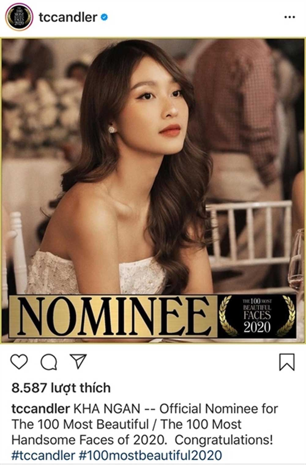 Vietnamese stars, 100 most beautiful faces list, TC Candler, art critic website, Vietnamese nominees, people from around the world