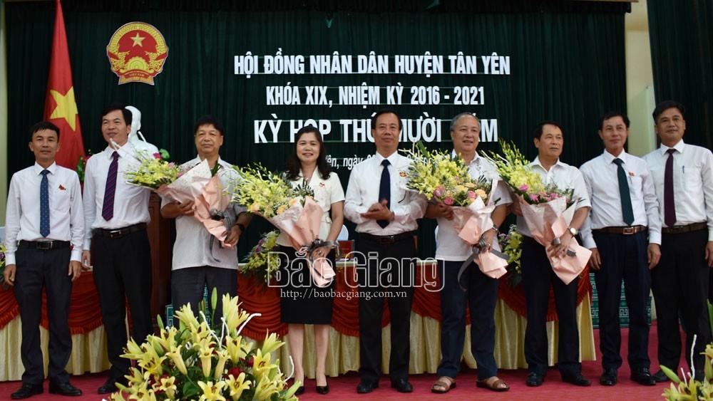 Ông Đinh Đức Cảnh giữ chức Chủ tịch HĐND huyện Tân Yên