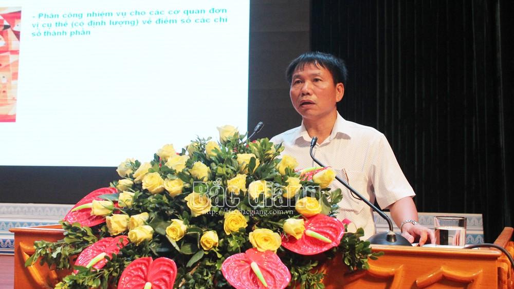Bắc Giang, Phấn đấu, chỉ số PCI , cạnh tranh, cải cách, hành chính, doanh nghiệp