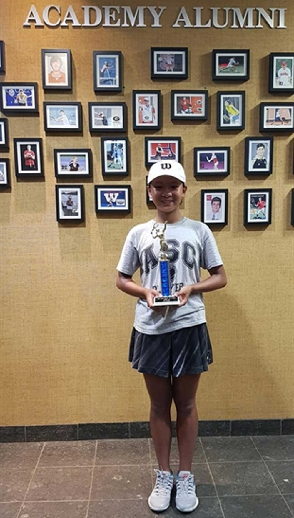 Dong Khanh Linh, US tennis tournament, Teenage tennis star,  U14 category event, professional tennis player, HCM City youth team