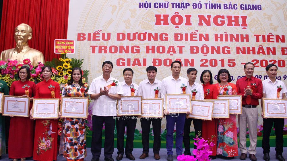 Bac Giang province, 125 exemplary models, humanitarian work, Red Cross Society, humanitarian work, outstanding results, poverty reduction target, social welfare