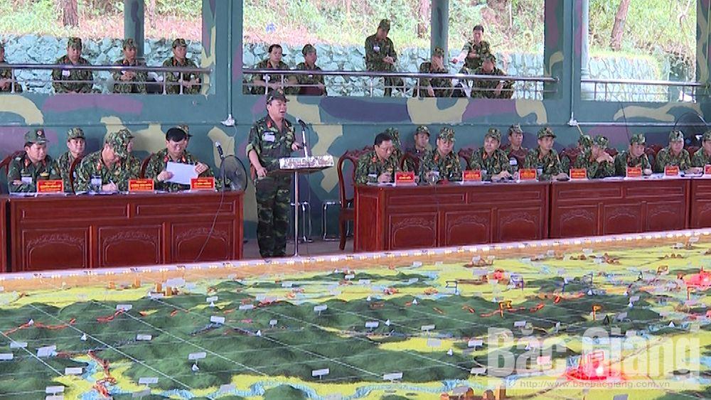 Bộ CHQS tỉnh Bắc Giang: Hoàn thành luyện tập chỉ huy - cơ quan 1 bên 2 cấp trên bản đồ