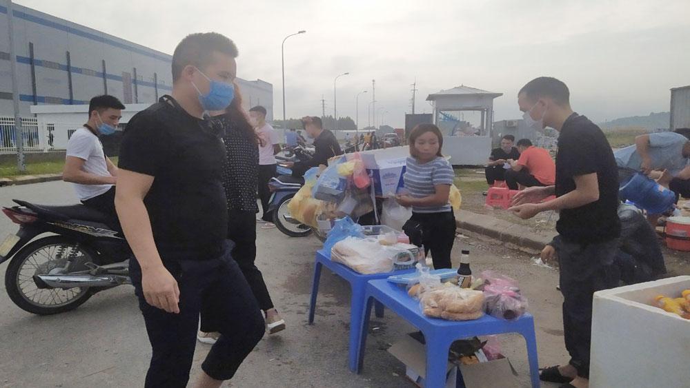 khu công nghiệp, hàng rong, Bắc Giang, công nhân