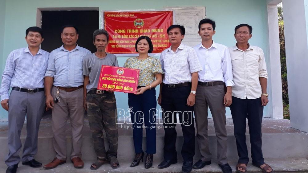 Hội Nông dân huyện Lục Nam (Bắc Giang): Hỗ trợ hai hội viên nghèo xây nhà ở