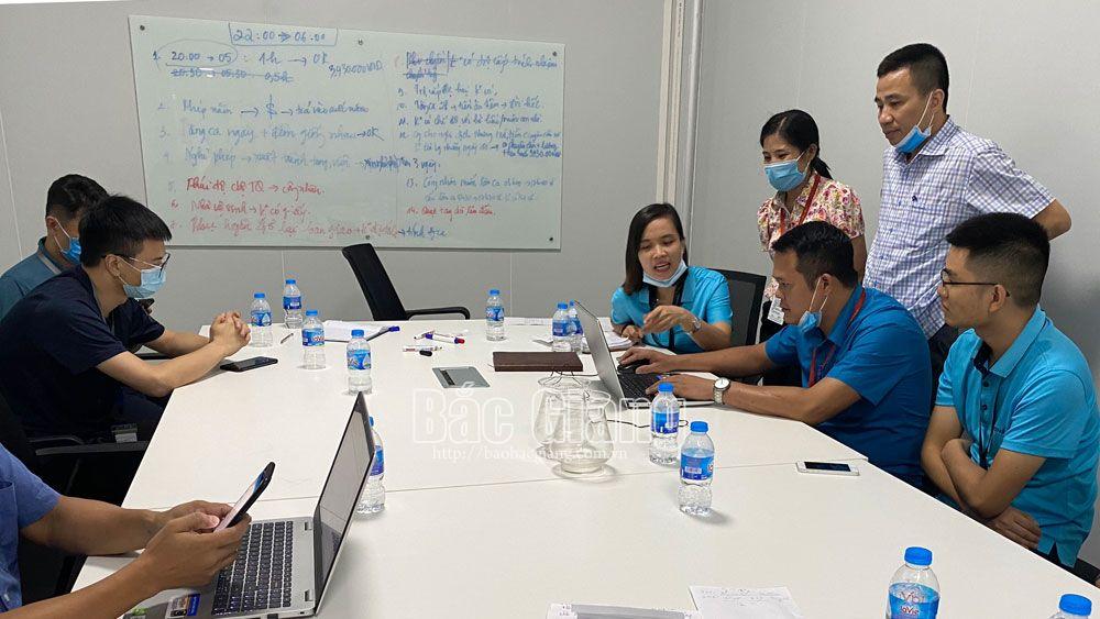 Công nhân Công ty TNHH Luxshare – ICT đã trở lại làm việc