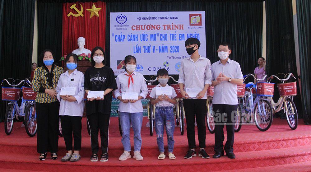 Bắc Giang, Chắp cánh ước mơ cho trẻ em nghèo, Hội Khuyến học tỉnh, Hội Bảo vệ quyền trẻ em tỉnh