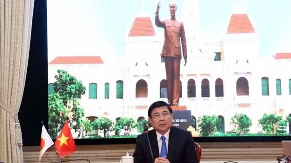 Ho Chi Minh City, enhances cooperation, Japan's Aichi prefecture, online meetings, Covid-19 pandemic, complicated development, bilateral cooperation