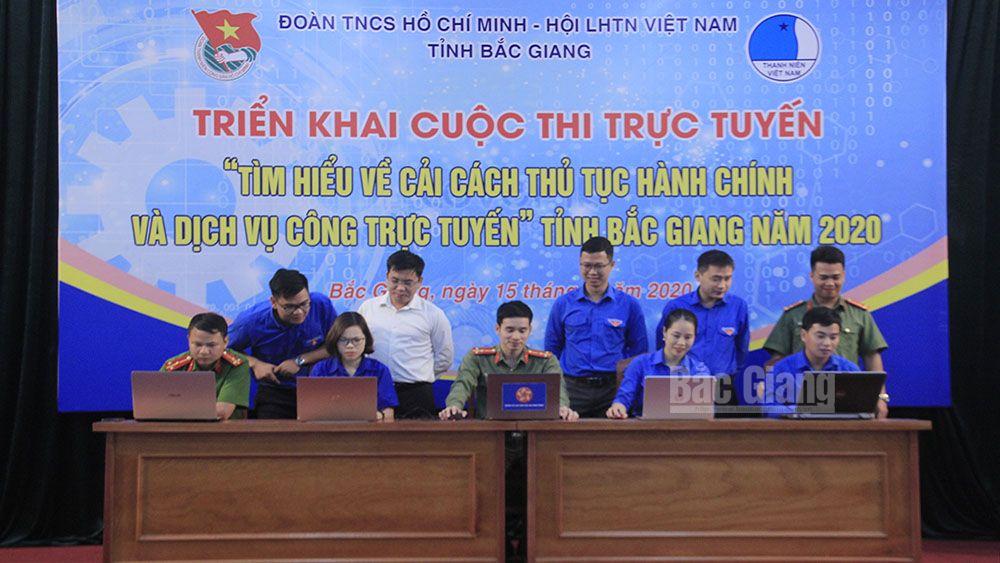 """Bắc Giang: Phát động đoàn viên thanh niên tham gia cuộc thi """"Tìm hiểu về cải cách TTHC và dịch vụ công trực tuyến"""""""