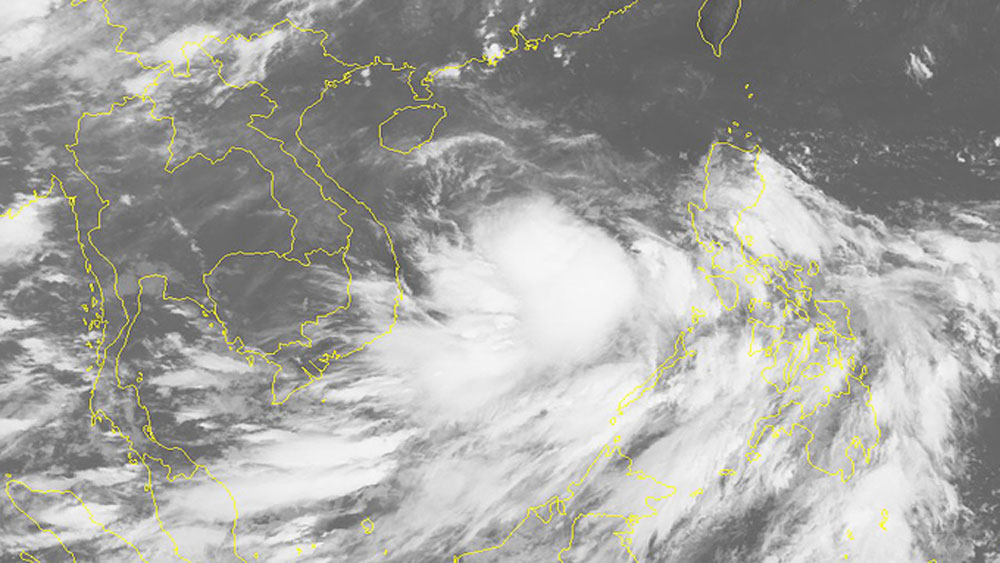 Tropical depression, storm, central Vietnam, East Sea, maximum wind speed, storm's movement,  evacuate people