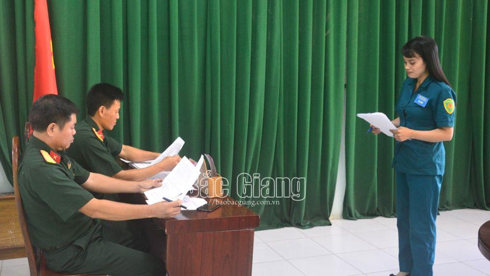 Ban CHQS huyện Hiệp Hòa thi cán bộ giảng dạy chính trị và báo cáo viên giỏi
