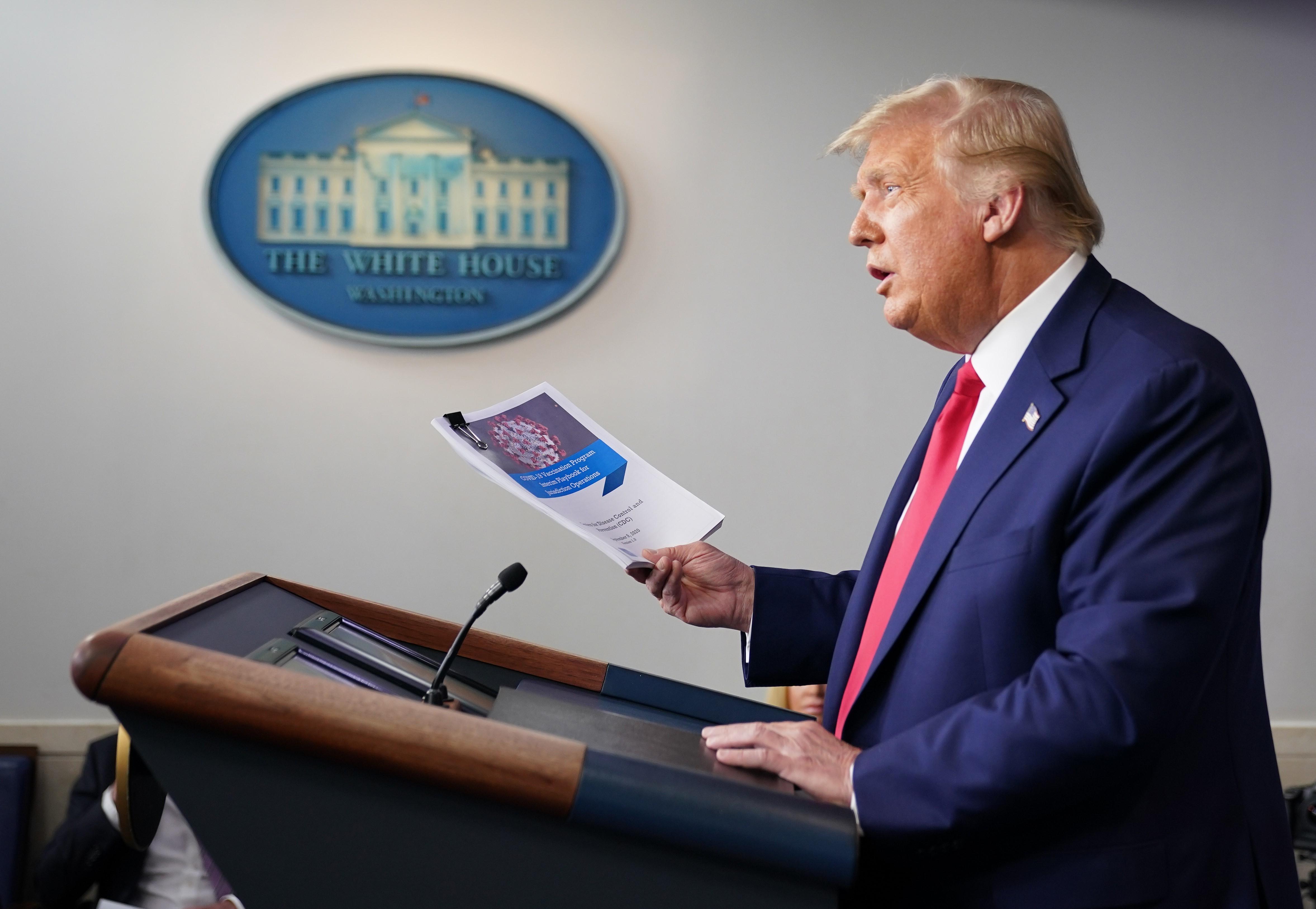 Tổng thống Mỹ, tin tưởng, phân phối, khoảng 100 triệu liều vaccine ngừa Covid-19 , cuối năm nay