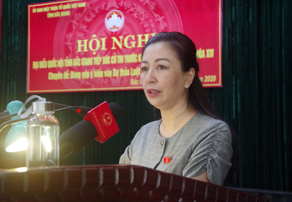 Bắc Giang, Đoàn Đại biểu Quốc hội tỉnh, Trường Trung cấp Biên phòng 1, tiếp xúc cử tri, Luật Biên phòng Việt Nam