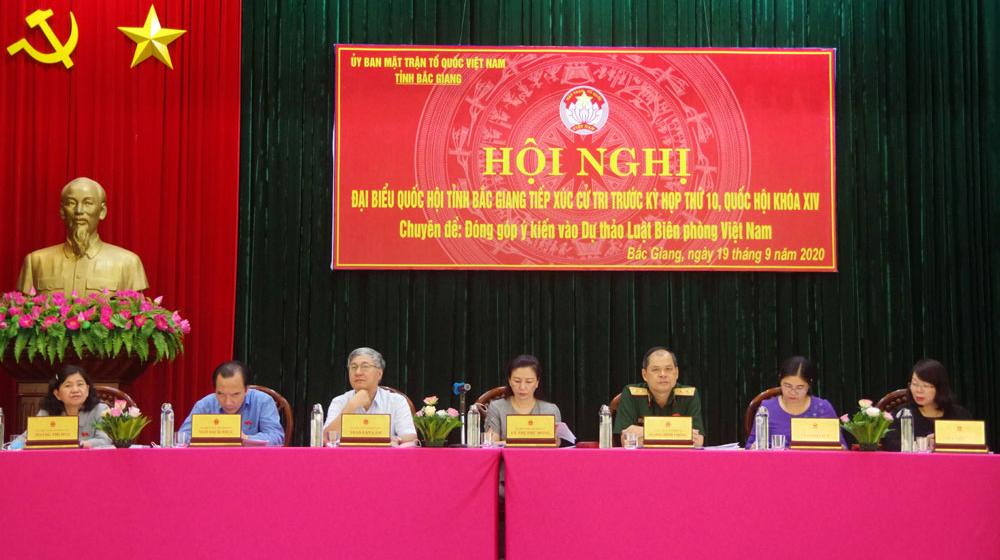 Bắc Giang: Lấy ý kiến đóng góp vào dự thảo Luật Biên phòng Việt Nam