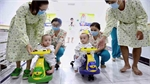 Saigonese conjoined twins embrace split life