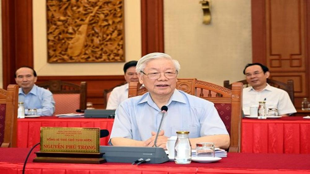 Bộ Chính trị làm việc với Ban Thường vụ Thành ủy Hà Nội