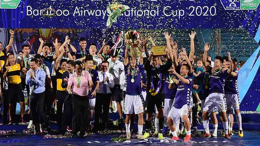 Hanoi FC, defend National Cup, uneventful affair, final quarter,  defending champions, capital rivals