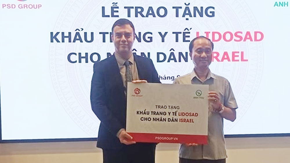 Vietnam, 100,000 face masks, medical face masks, joint efforts, friendship and cooperation, various cooperation activities, Israeli experts