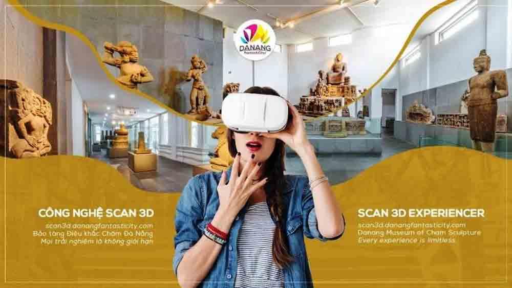 Da Nang city, virtual tour, Champa sculptures, 3D scans, Museum of Champa Sculpture, three-dimensional scans
