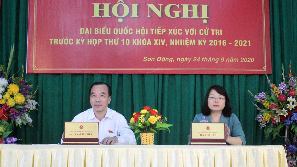 Bắc Giang, tiếp xúc cử tri, Sơn Động, Quốc hội, Ngô Sách Thực, Hà Thị Lan