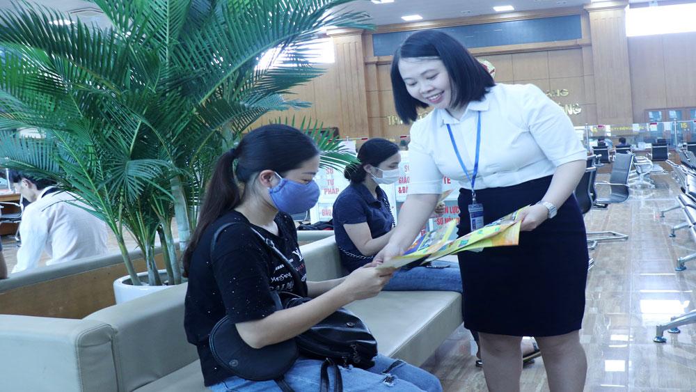 Trung tâm Phục vụ hành chính công, Bắc Giang, hồ sơ trực tuyến