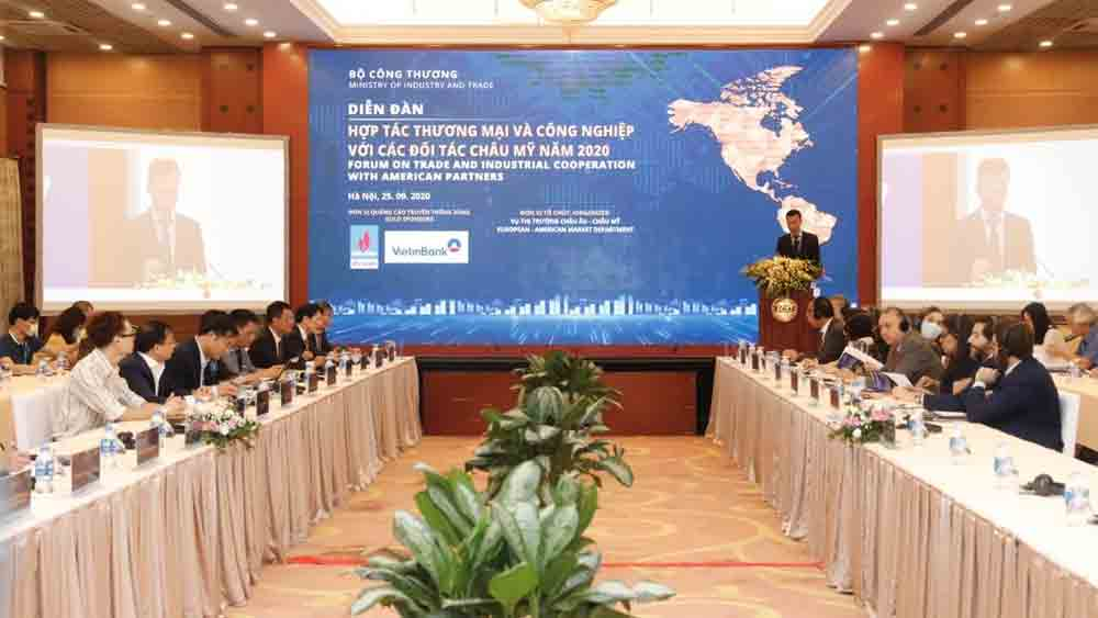 Vietnam, promote exports, American countries, trade and economic policies, export industries, economic recovery, Vietnamese partners