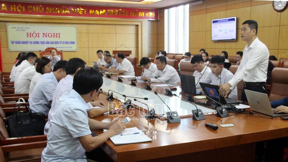 Bắc Giang: Thực hiện chứng thực bản sao điện tử từ bản chính từ ngày 1/10