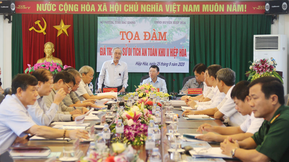 Bac Giang province, finalizes documents, Hiep Hoa Safety Zone II, special national relic site, Historical values, safety zone
