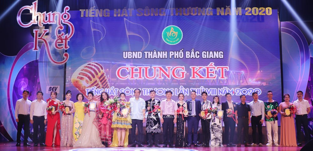 Strong and emotional voices, brighten up, final round, Thuong River Singing Contest 2020, Bac Giang province, music talents