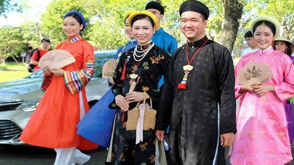 Taking full advantage, nation's cultural potential, capital of Vietnamese Ao Dai, traditional national dress, key cultural feature