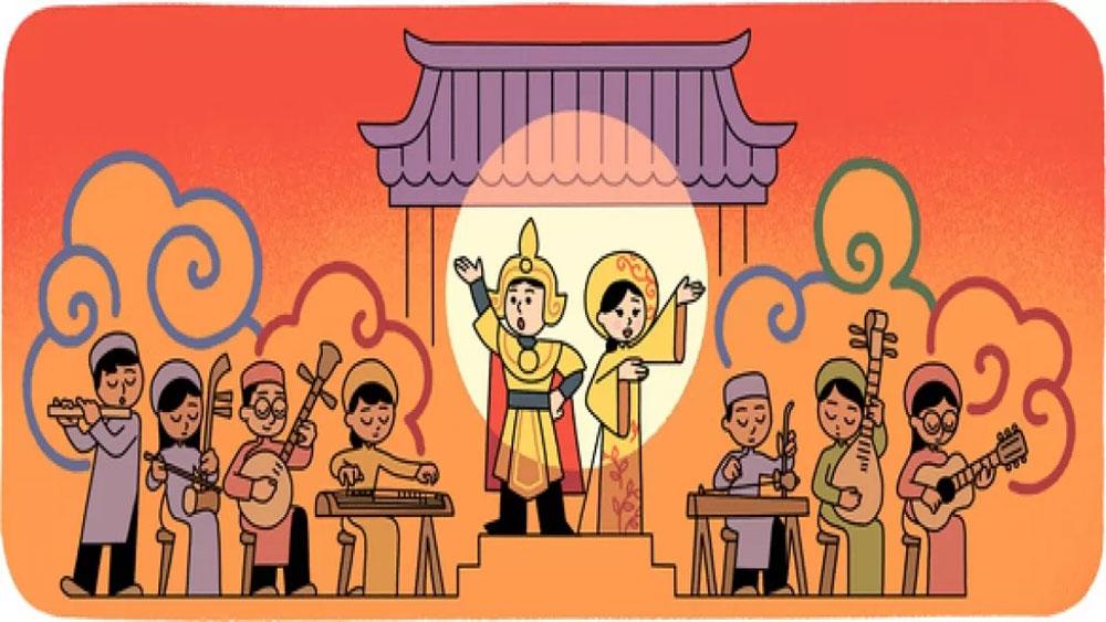 Google Doodle honours Vietnam's 'cai luong' art