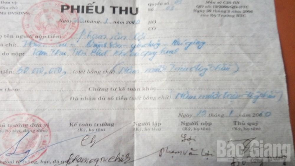 UBND xã Quỳnh Sơn (Yên Dũng) và ông Phạm Văn Chinh phải hoàn trả công dân tiền