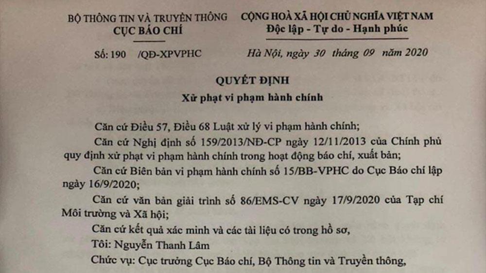 Tước giấy phép tạp chí đăng tin sai về Bí thư Tỉnh ủy Đắk Lắk