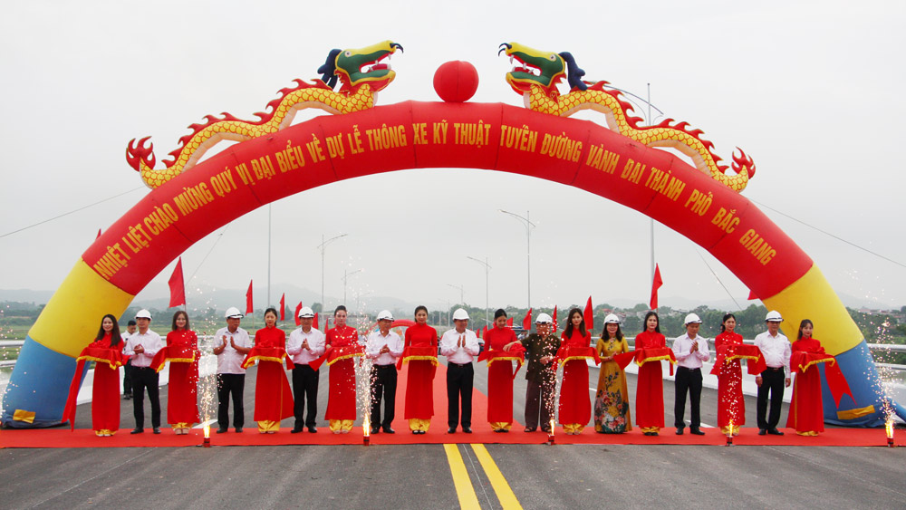 Thông xe kỹ thuật tuyến đường vành đai TP Bắc Giang
