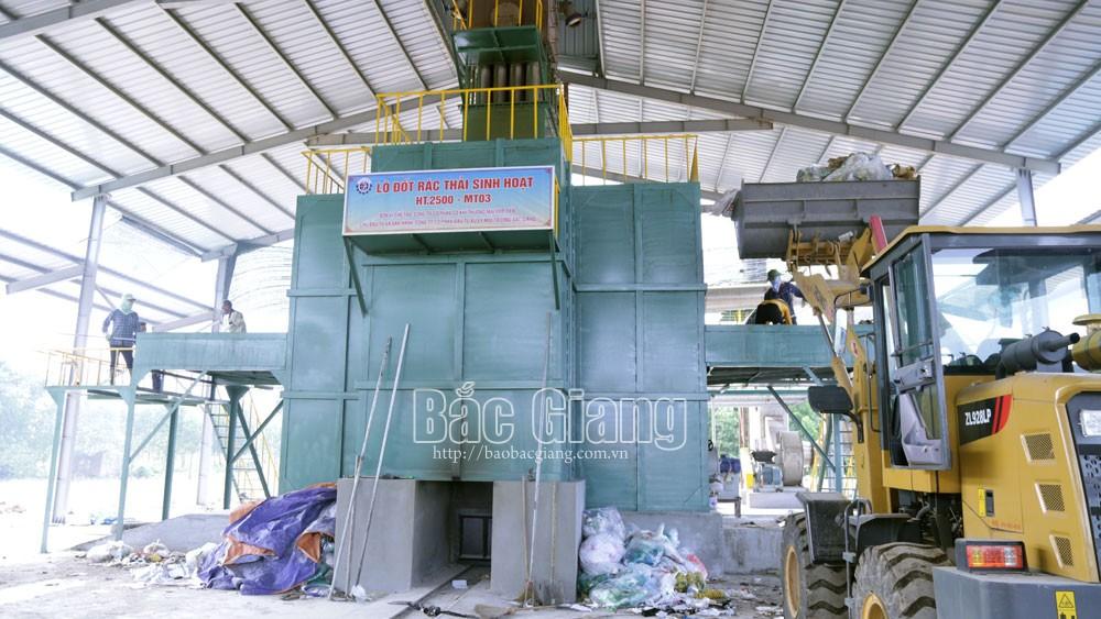 Yên Dũng, lò đốt rác, 7 tỷ đồng, 2,5 tấn/giờ