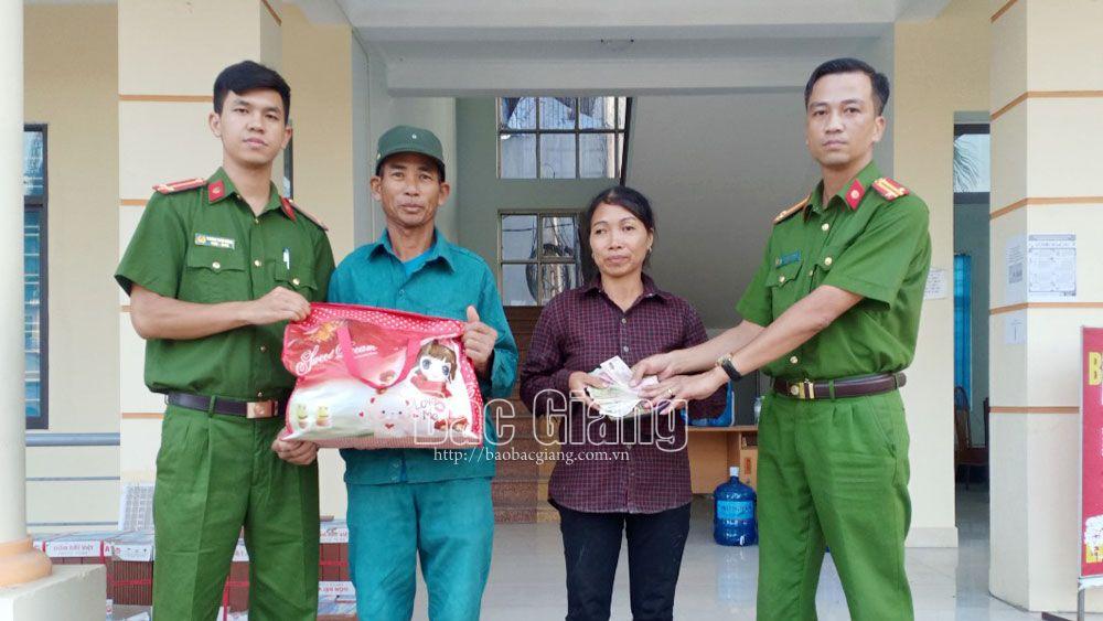 Việt yên, công an xã, tăng tiến, trả của rơi