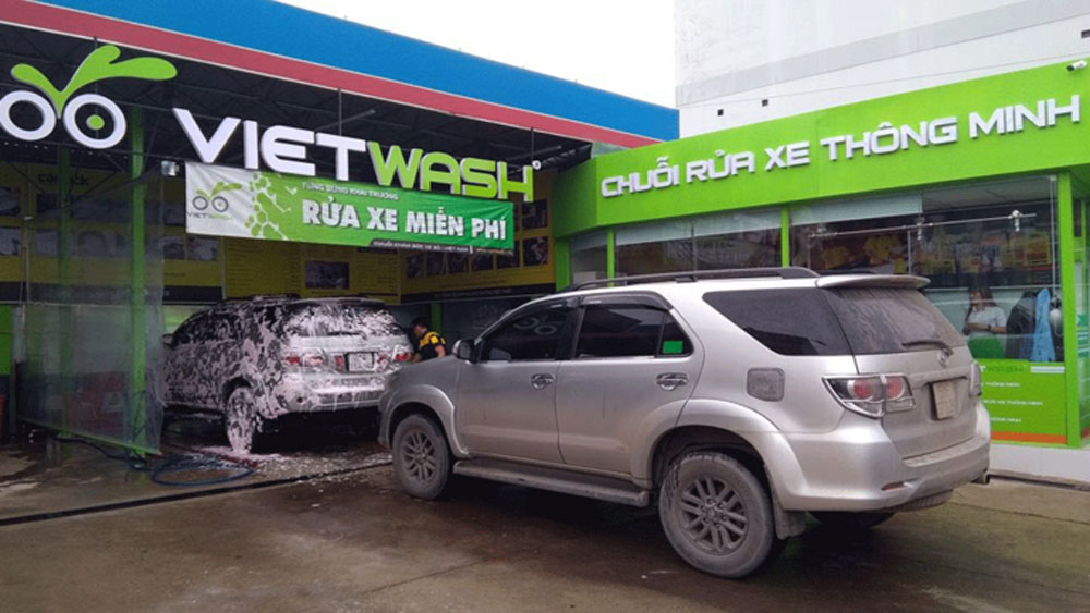 S Korean firm, Vietnam, car-wash chain, GS Caltex Corp, car-wash startup, Vietwash, car and motorbike wash, automatic car maintenance system