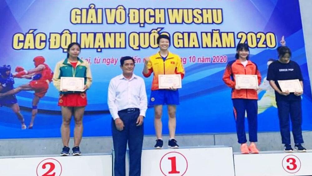 Bac Giang wins gold medal at National Wushu Championships