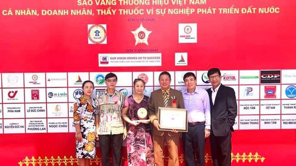 Nhân ngày doanh nhân Việt Nam, Công ty cổ phần Y dược LanQ,  vinh danh,  Sao vàng thương hiệu Việt Nam, Doanh nhân, vì sự phát triển đất nước