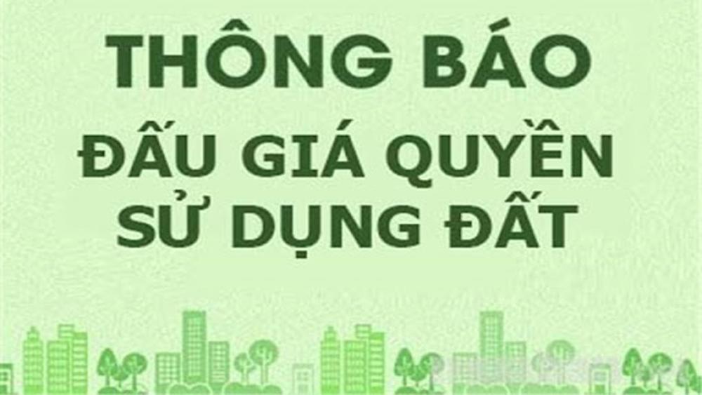 Thông báo đấu giá QSD đất ở thuộc huyện Lạng Giang