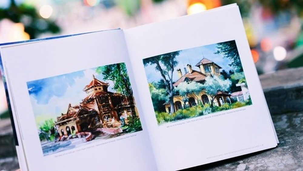 Bilingual artbook, French-style buildings, Hanoi released, Vietnamese – English artbook, Impressions of Hanoi, professional and amateur architects