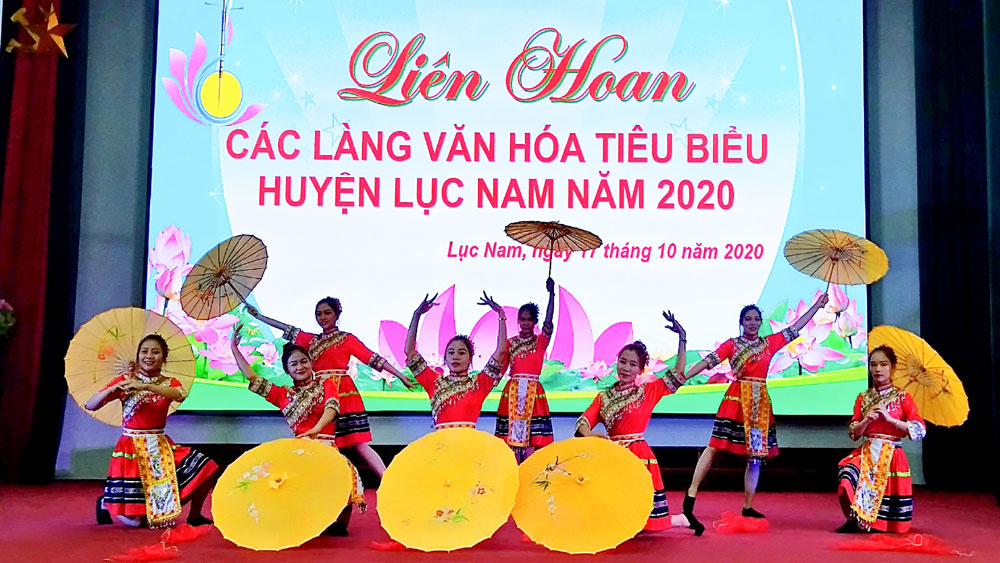 Lục Nam (Bắc Giang): Liên hoan các làng văn hóa tiêu biểu năm 2020