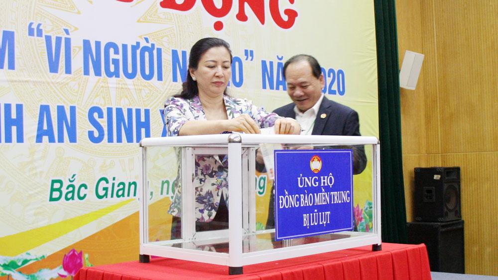 Bắc Giang phát động Tháng cao điểm Vì người nghèo: Các cơ quan, đơn vị đăng ký ủng hộ hơn 64 tỷ đồng