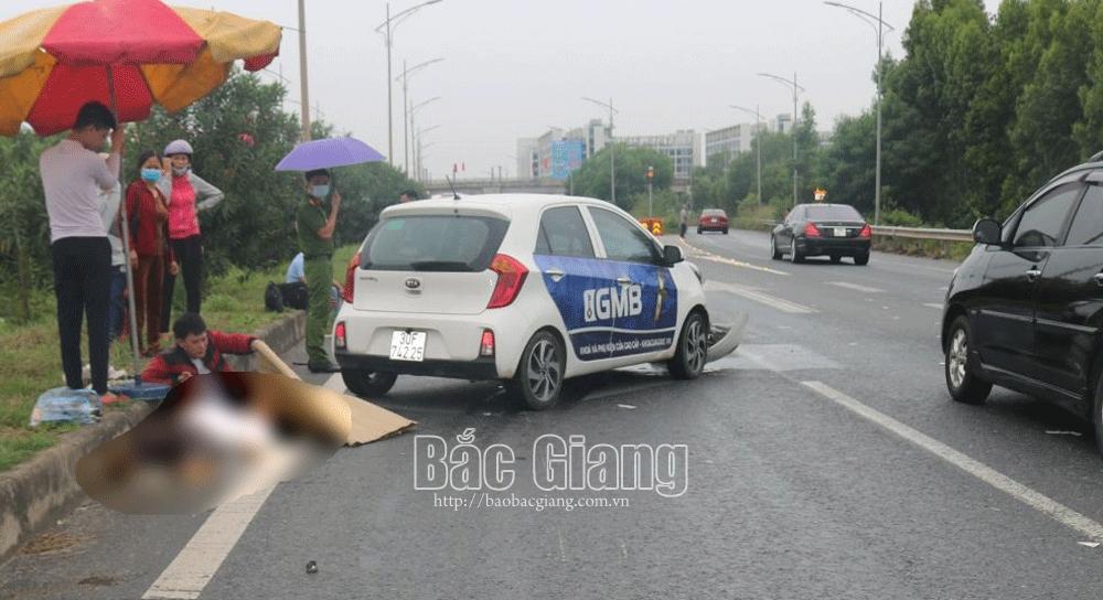 Bắc Giang: Đi ngược chiều trên cao tốc Hà Nội - Bắc Giang, người đi xe máy tử vong